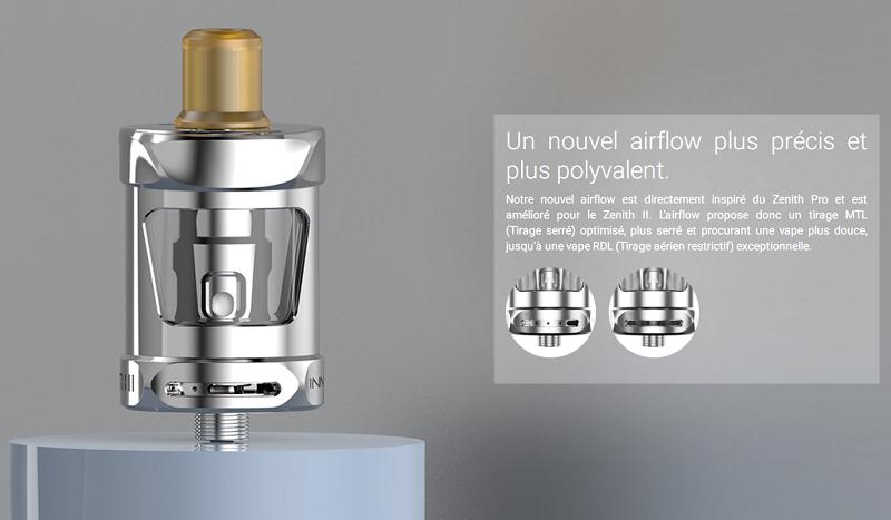L'airflow est réglable pour une vape MTL ou RDL